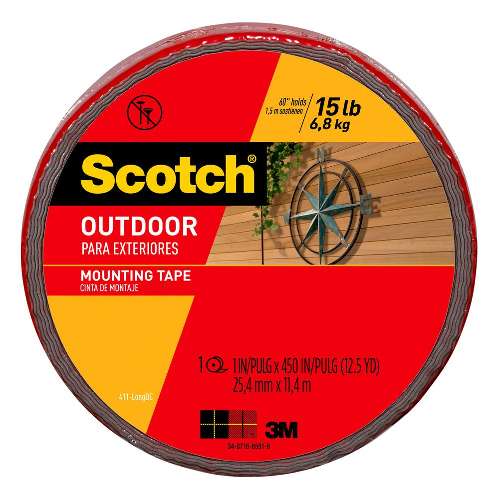 3m Vhb Tape Canada 3m Scotch 1 In X 12 5 Yds Permanent Outdoor Double Sided Mounting Tape