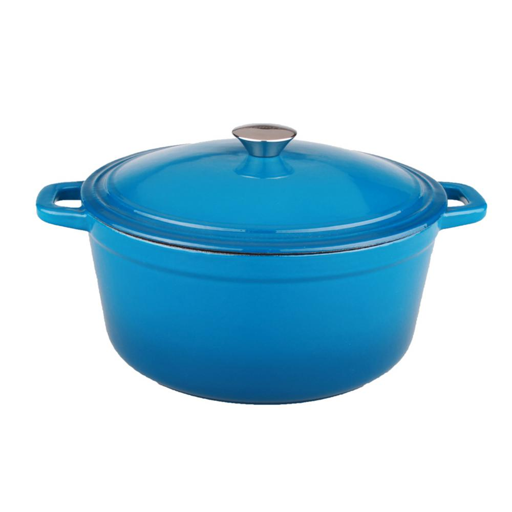 Cast Iron Casserole Dish Neo 5 Qt Blue Oval Cast Iron Casserole Dish With Lid
