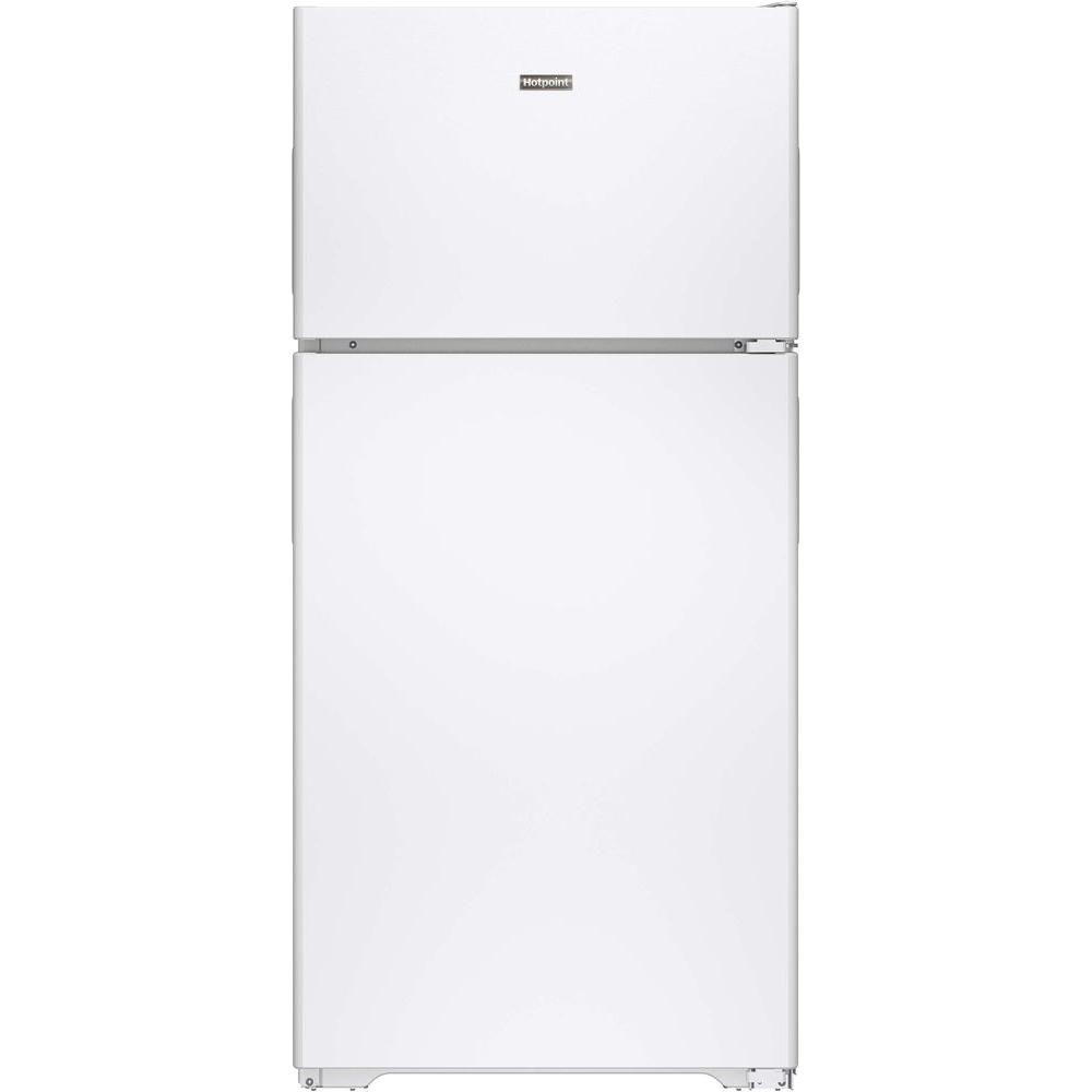 14 Cu Ft Refrigerator Hotpoint 14 6 Cu Ft Top Freezer Refrigerator In White