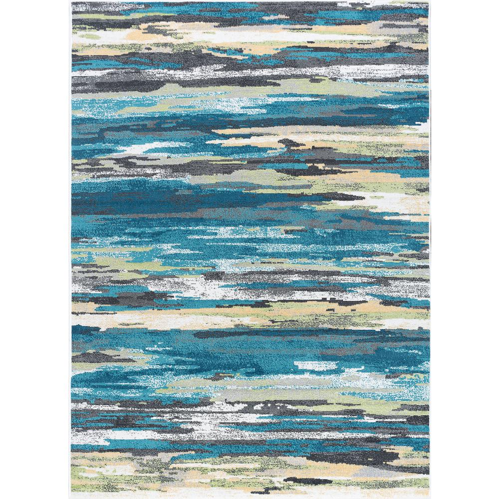 Teal Color Area Rugs Tayse Rugs Milan Blue 9 Ft X 13 Ft Area Rug