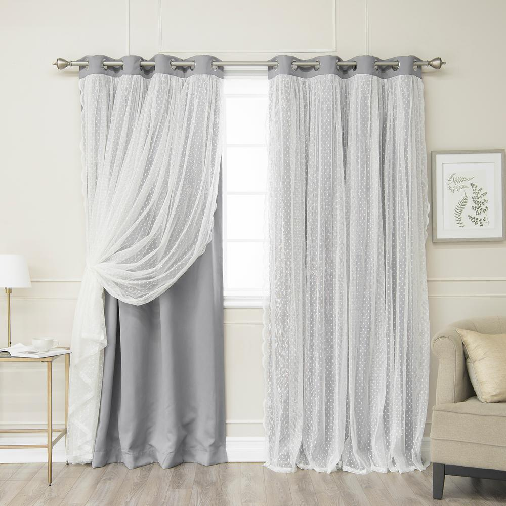 45 Inch Blackout Curtains Blackout Curtains Curtains Drapes The Home Depot