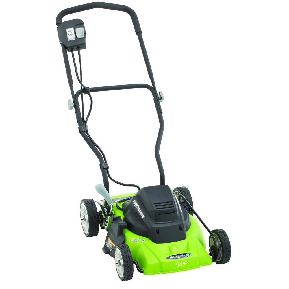 Electric Lawn Mower Sale Details About Earthwise Corded Electric Walk Behind Push Lawn Mower Discharge Mulching 14