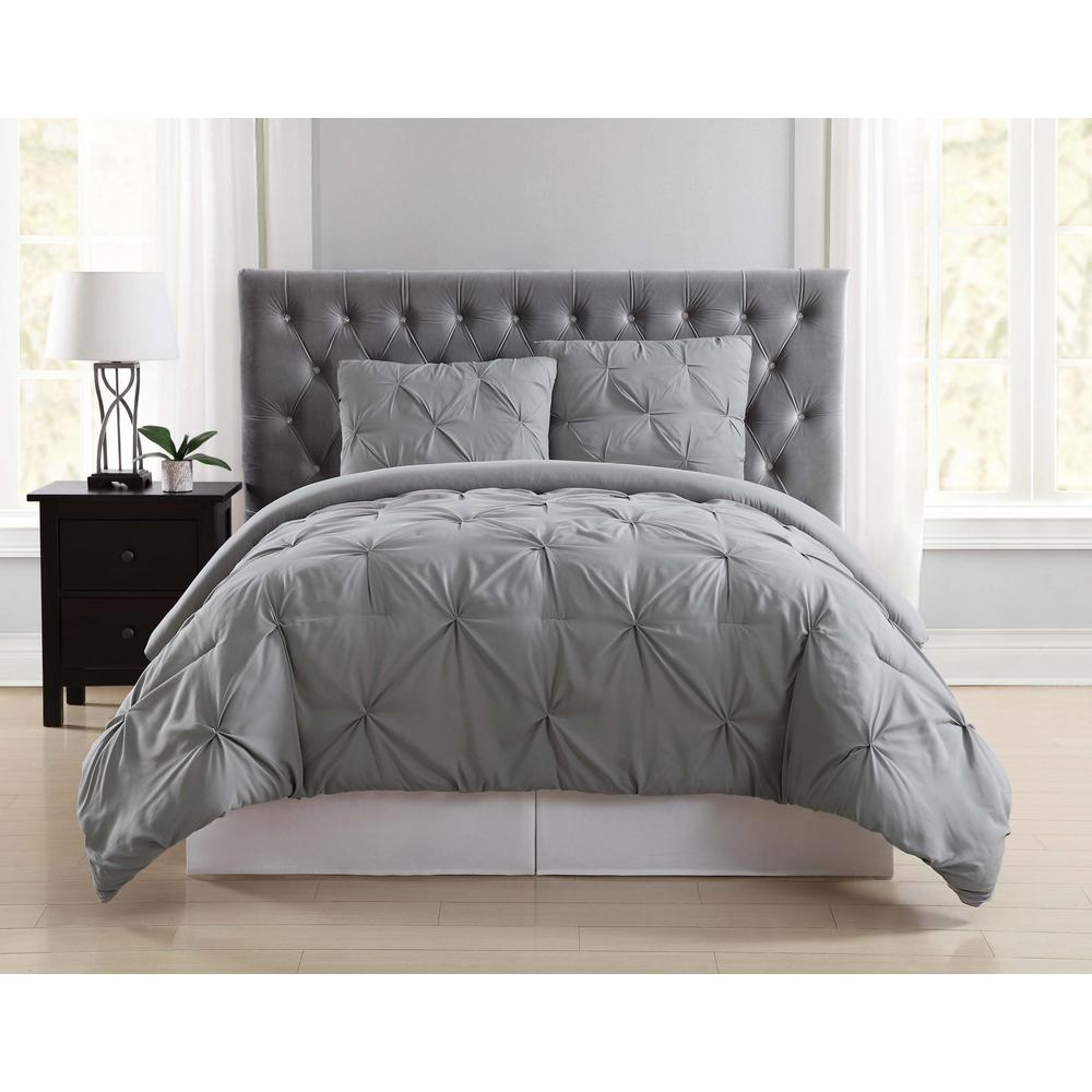 Where To Buy Nice Duvet Covers Truly Soft Everyday Pleated Grey Full Queen Duvet Set