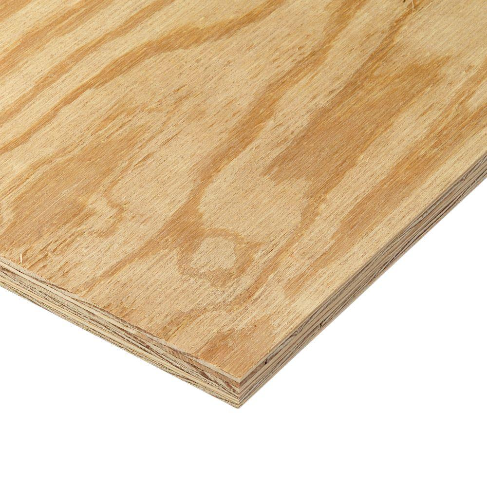 Half Inch Plywood 15 32 In X 4 Ft X 8 Ft Bc Sanded Pine Plywood