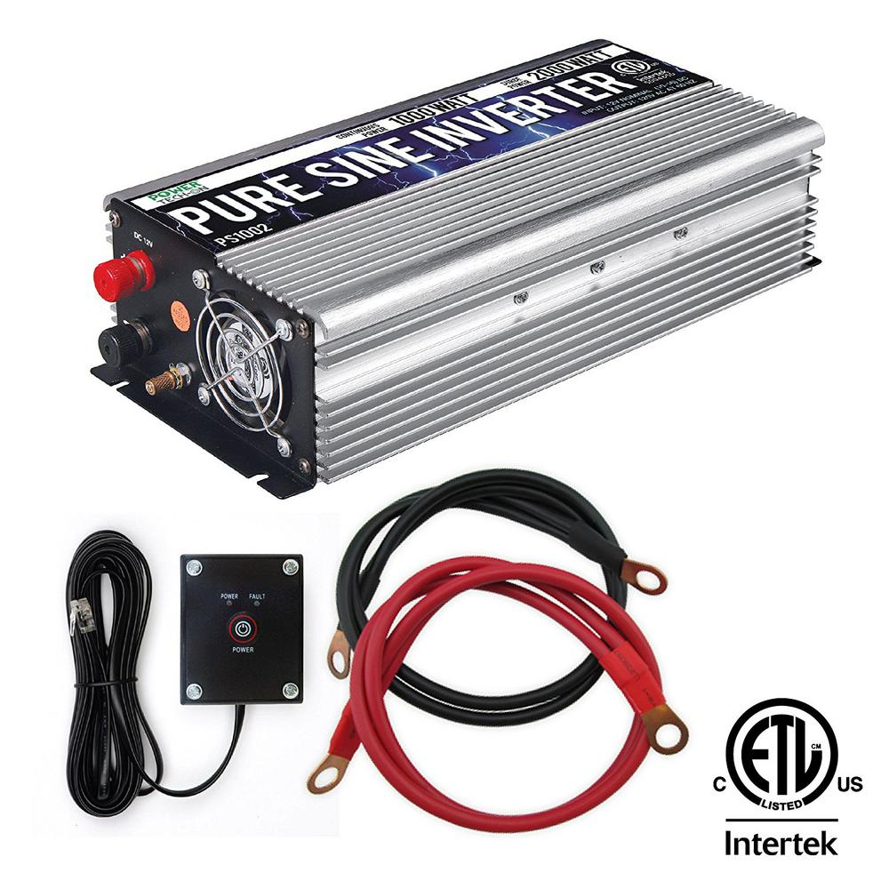 1000 Watt Pure Sine Wave Inverter Gowise Usa 1 000 Watt Continuous 2 000 Watt Peak Pure Sine Wave Inverter