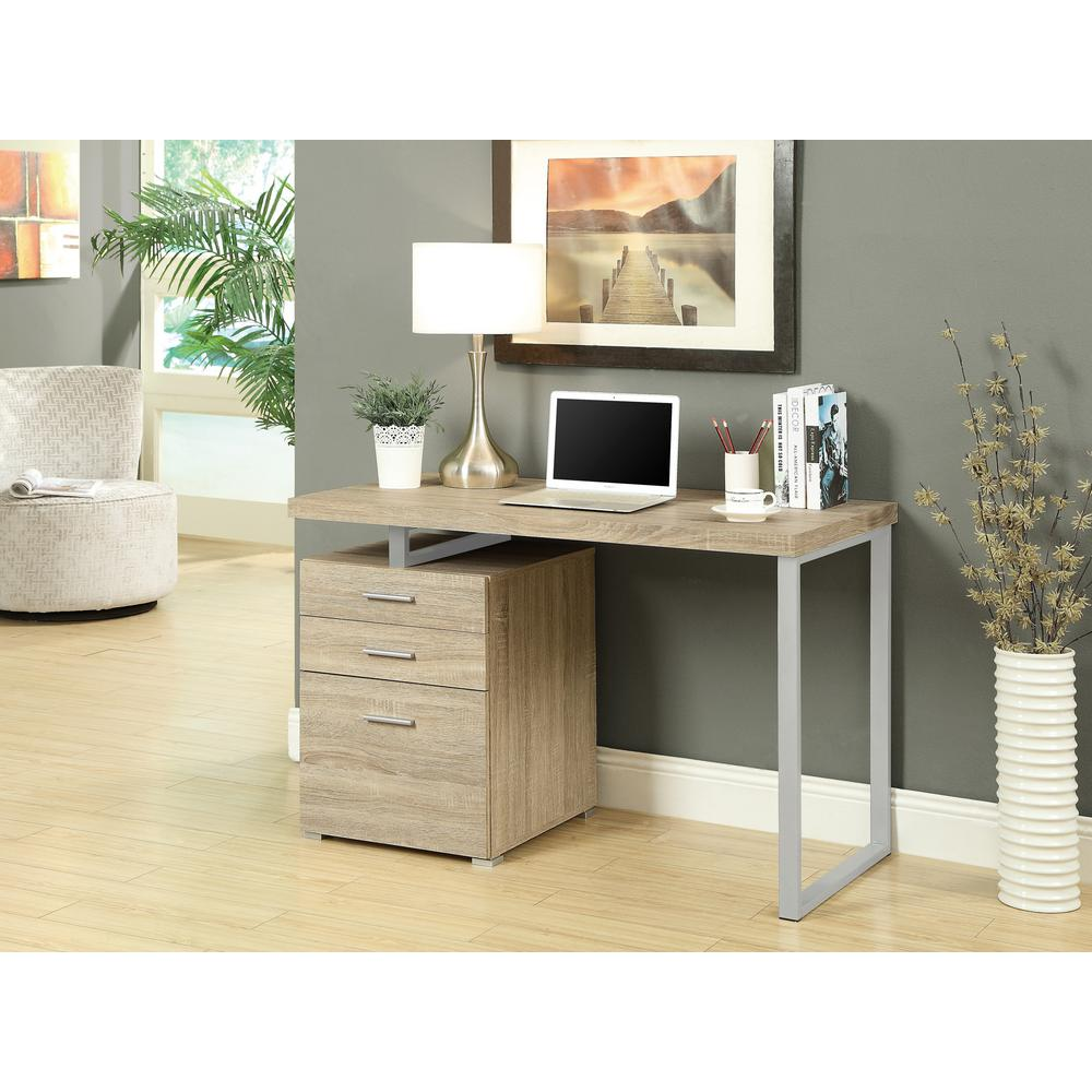 Modern Compact Computer Desk Monarch Specialties Natural Desk With File Cabinet