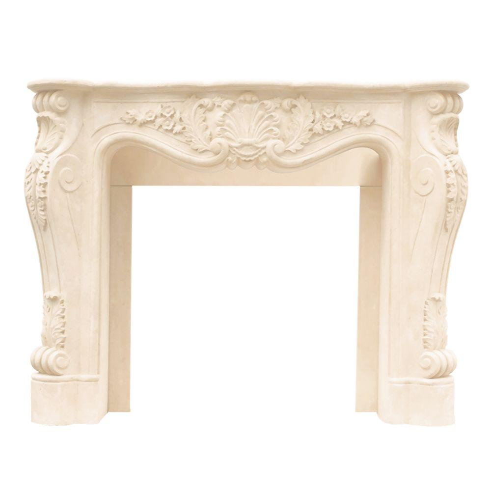 Fireplace Mantel Parts Historic Mantels Designer Series Louis Xiii 47 In X 53 In Cast Stone Mantel