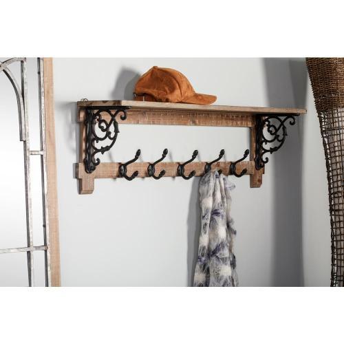Medium Of Shelf With Hooks