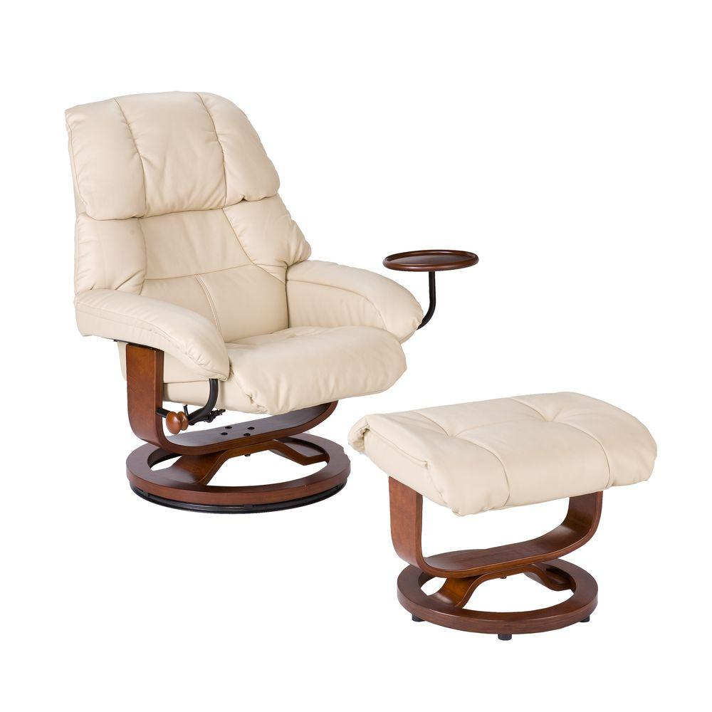 Chair Leather Reclining Swivel Black Leather Reclining Chair With Ottoman