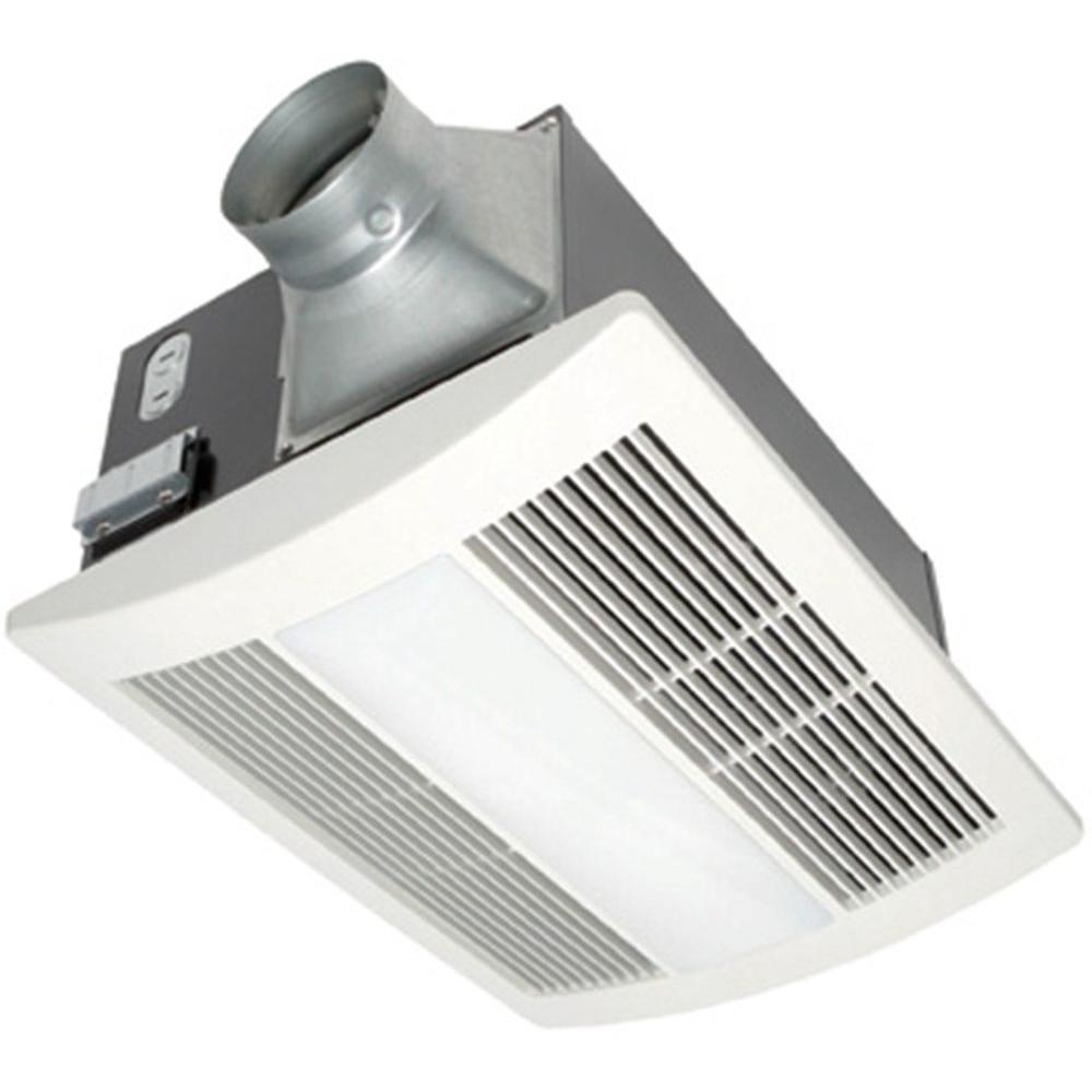 Panasonic whisperwarm 110 cfm ceiling exhaust bath fan with light and heater fv 11vhl2 the home depot