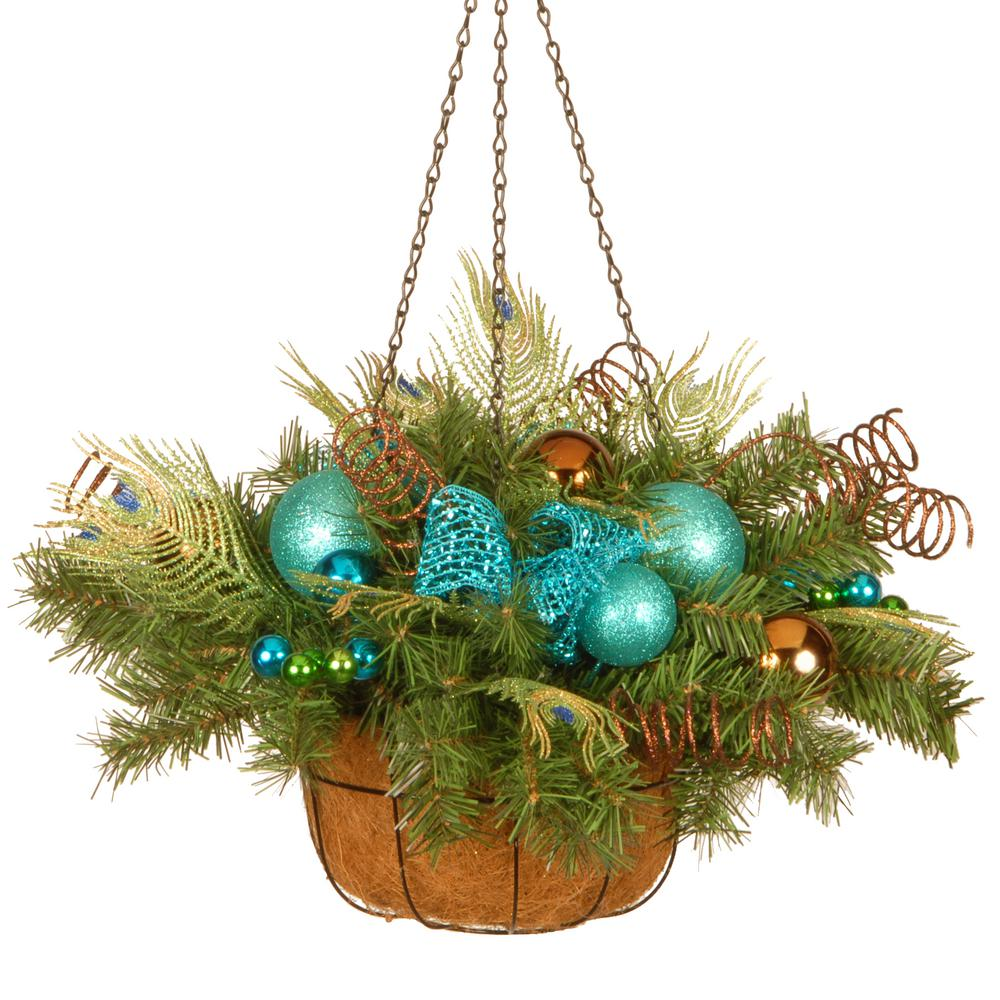 Home Decoration Collection National Tree Company 22 In Decorative Collection Peacock Hanging Basket