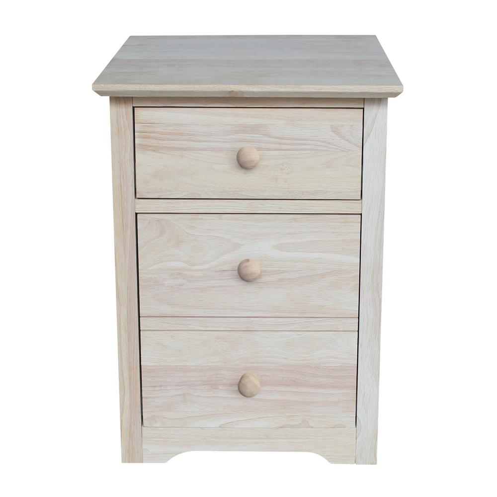 Solid Wood File Cabinet International Concepts Solid Wood Ready To Finish Rolling File