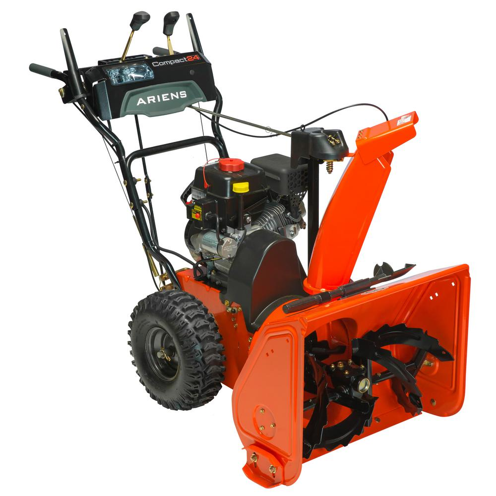 Ariens Compact 24 In 2 Stage Electric Start Gas Snow Blower 920021 The Home Depot - Ariens Snow Thrower