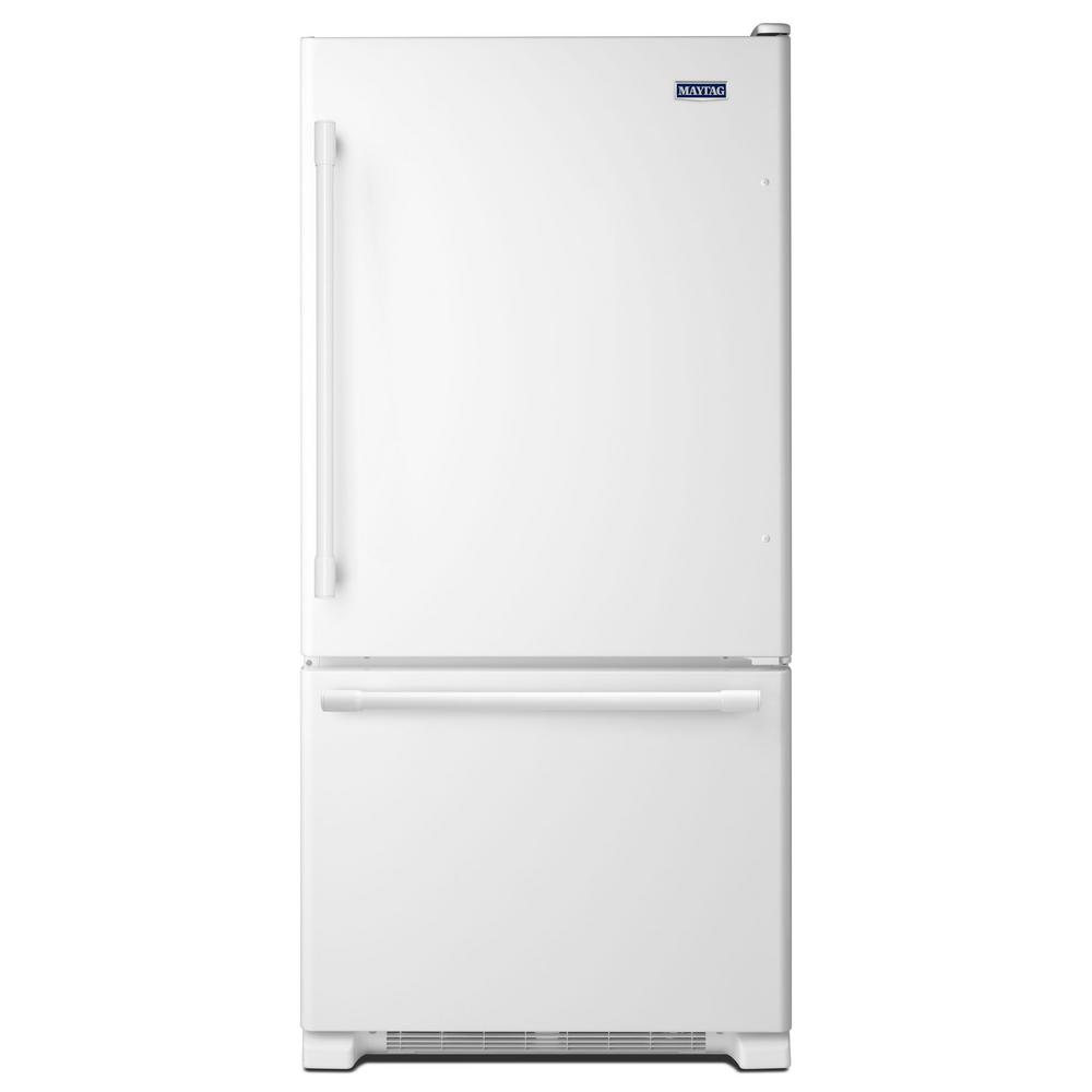 Home Depot Fridges Canada Maytag 19 Cu Ft Bottom Freezer Refrigerator In Fingerprint Resistant Stainless Steel