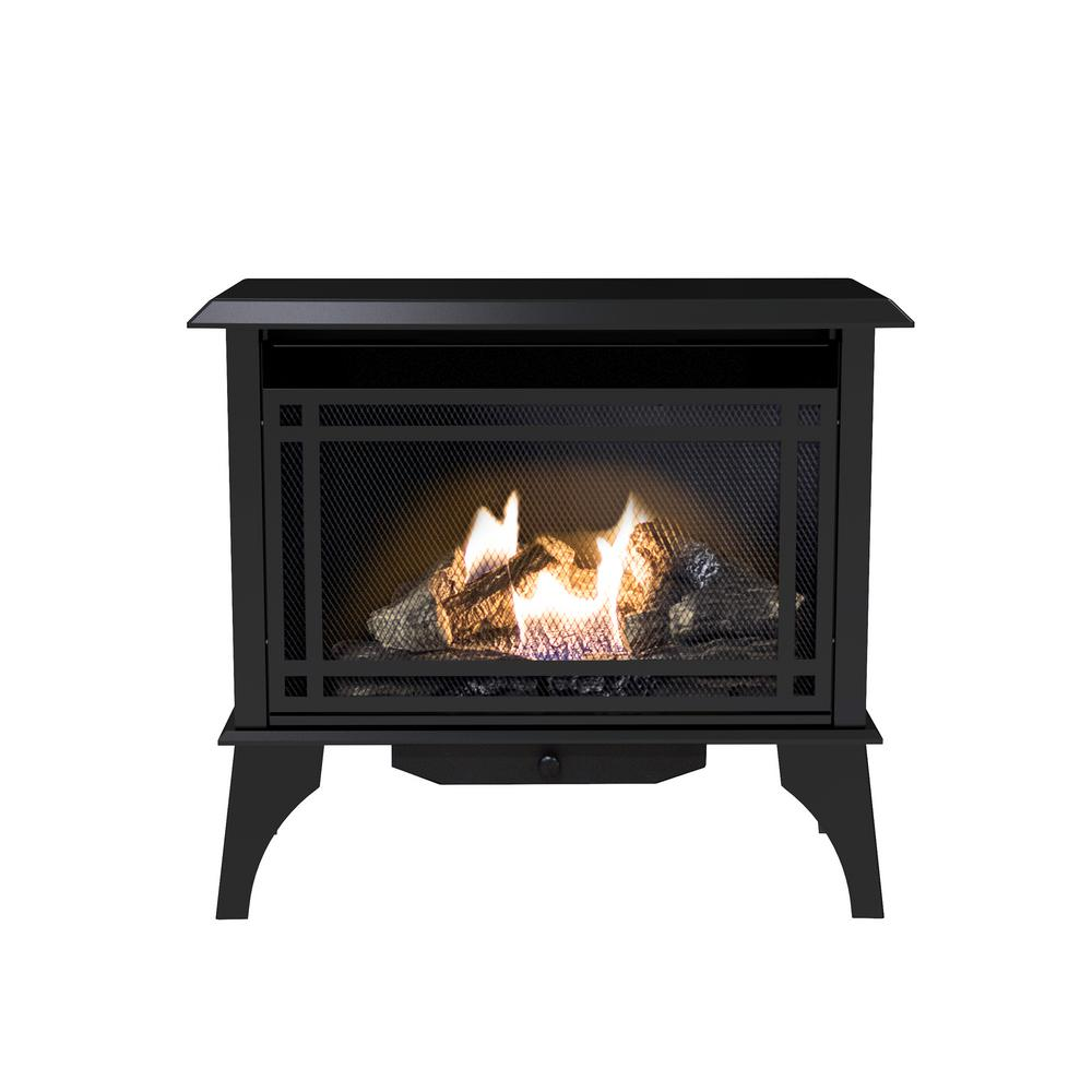 Btu Gas Fireplace Pleasant Hearth 32 In Intermediate 30 000 Btu Vent Free Dual Fuel Gas Stove