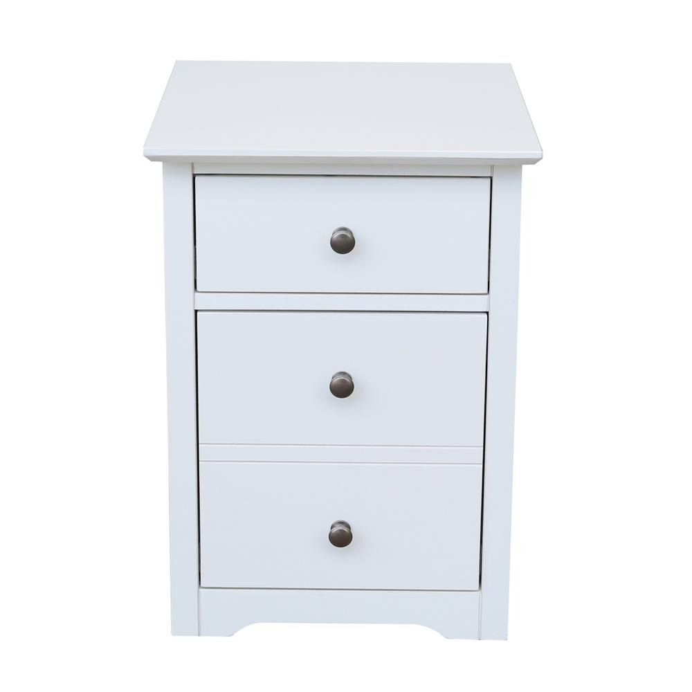 Solid Wood File Cabinet International Concepts Solid Wood Beach White Rolling File Cabinet