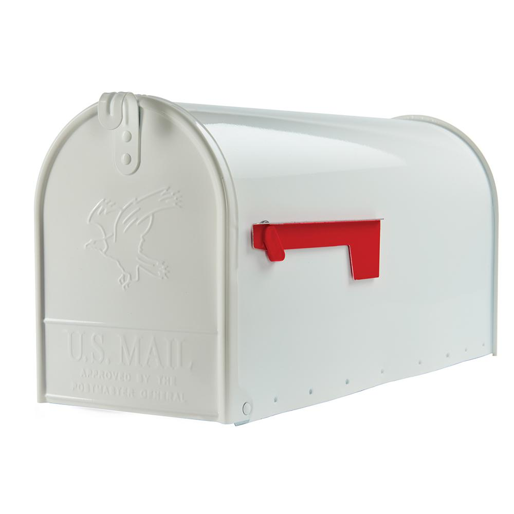 Splendid Elite Large Premium Steel Mailbox S Residential Mailboxes Posts Addresses Home Depot Mailbox Mounting Bracket Home Depot Mailbox Lock curbed Home Depot Mailbox