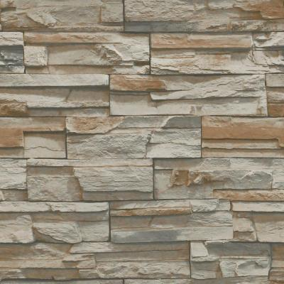 York Wallcoverings Natural Elements Flat Stone Wallpaper-SS1020 - The Home Depot