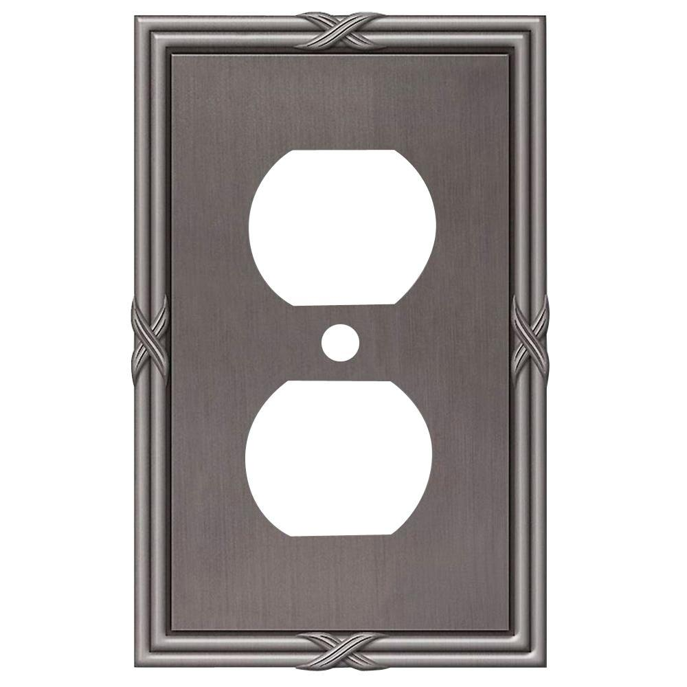 Amerelle Ribbon and Reed 1 Duplex Wall Plate