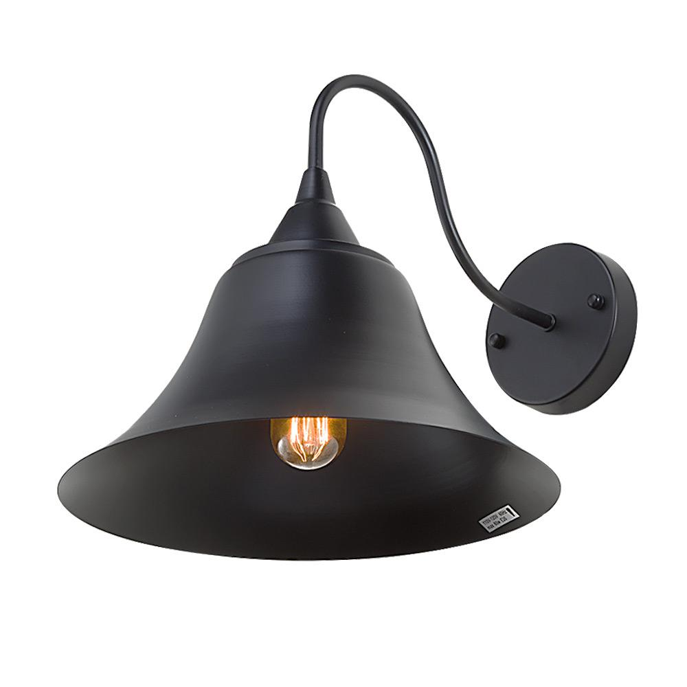 Gooseneck Lighting Lnc 1 Light Black Gooseneck Bell Wall Sconce
