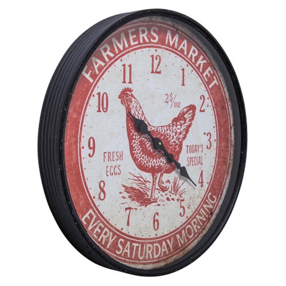 Special Clock Yosemite Home Decor Farmers Market Red Wall Clock 5140021 The