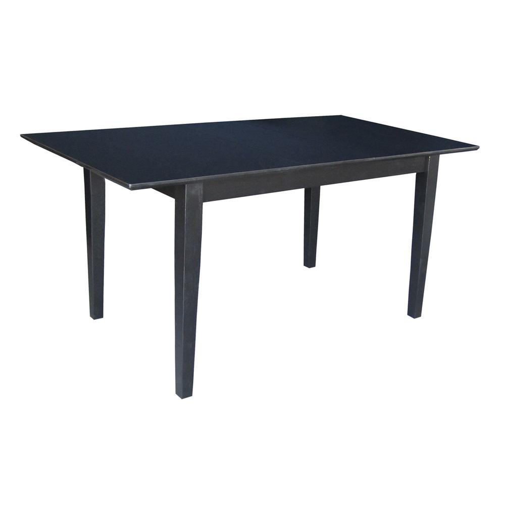 Extending Oak Table Black And Cherry Extendable Butterfly Leaf Dining Table