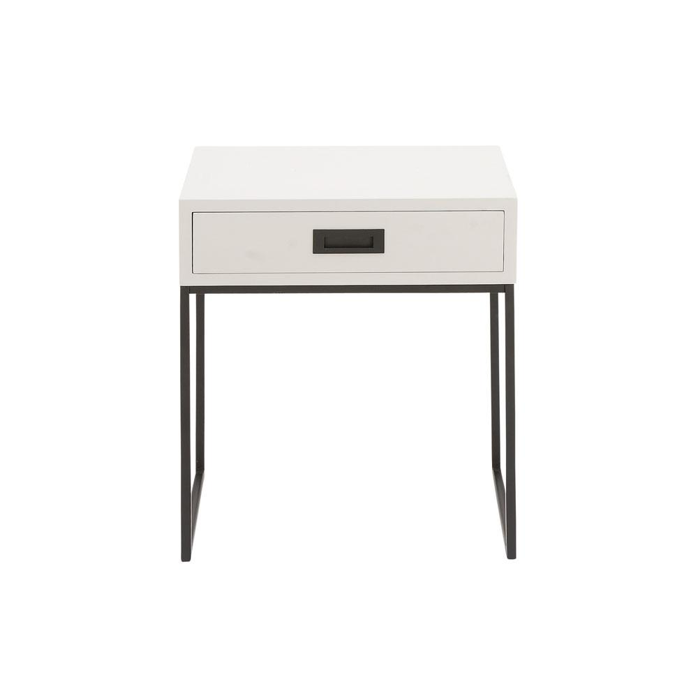 Black End Tables With Drawer White Single Drawer Side Table