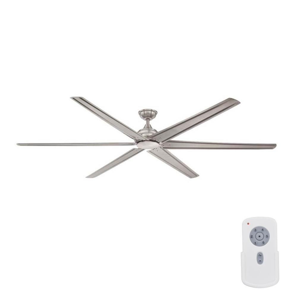 Large Indoor Fans Home Decorators Collection Fenceham 84 In Indoor Brushed Nickel Ceiling Fan With Remote Control