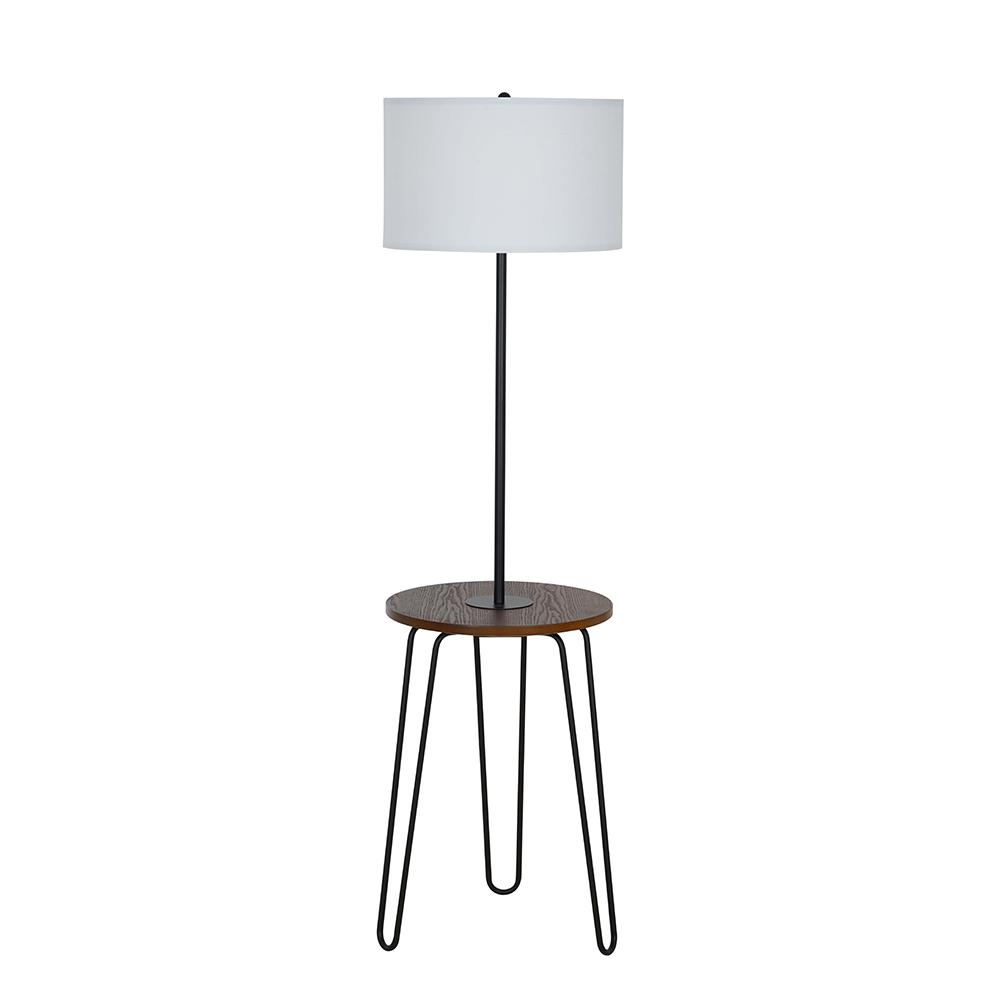 Modern Lamps Led Cresswell 59 In Black Mid Century Modern Floor Lamp With Table With Led Bulb Included