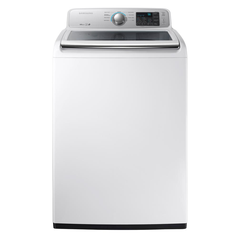 Samsung 4 5 Cu Ft High Efficiency Top Load Washer In White Energy Star Wa45m7050aw The Home - Top Loading Washers