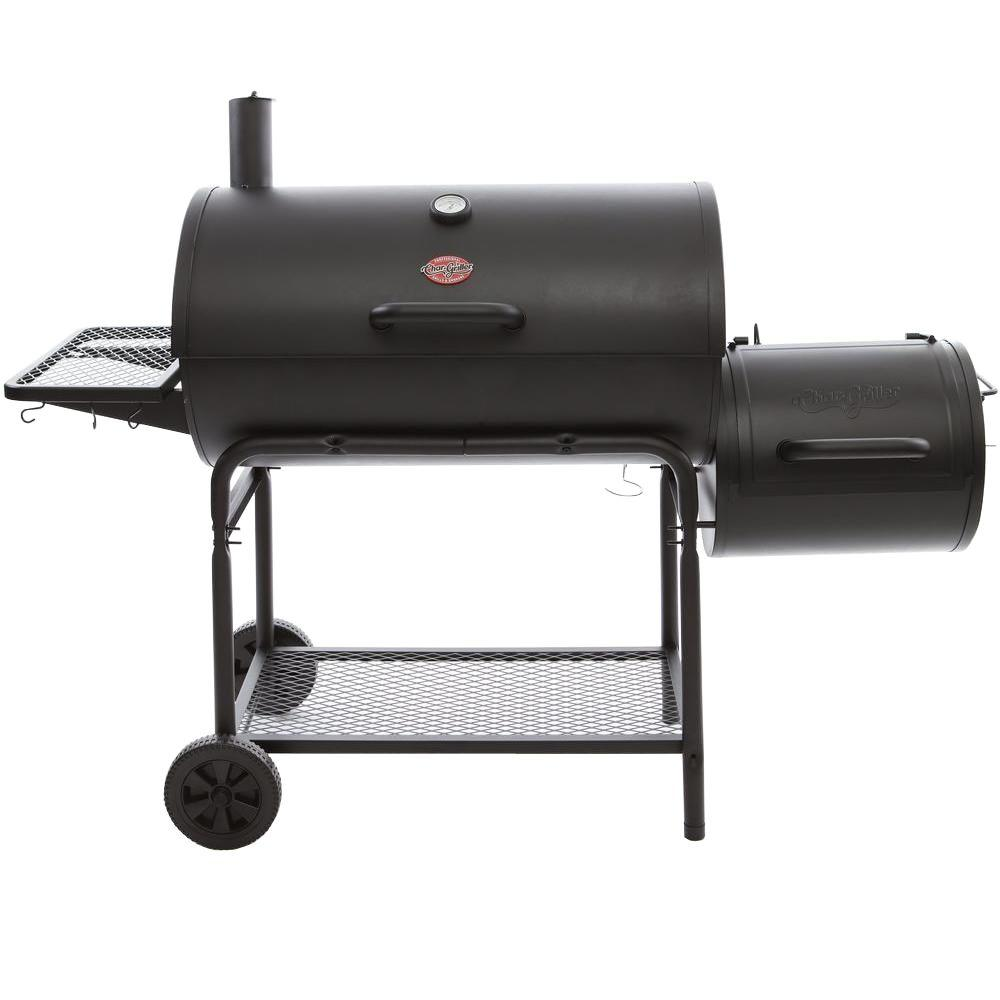 Coal Bbq Char Griller Smokin Champ Charcoal Grill Horizontal Smoker In Black