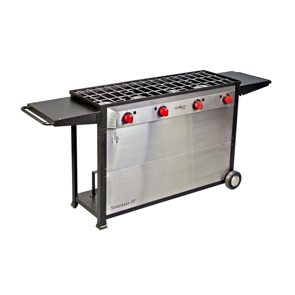 Grill Camping Camp Chef Somerset 4 Burner Propane Gas Grill In Stainless Steel