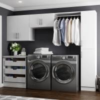 Modifi Horizon 105 in. W White Laundry Cabinet Kit-ENL105 ...