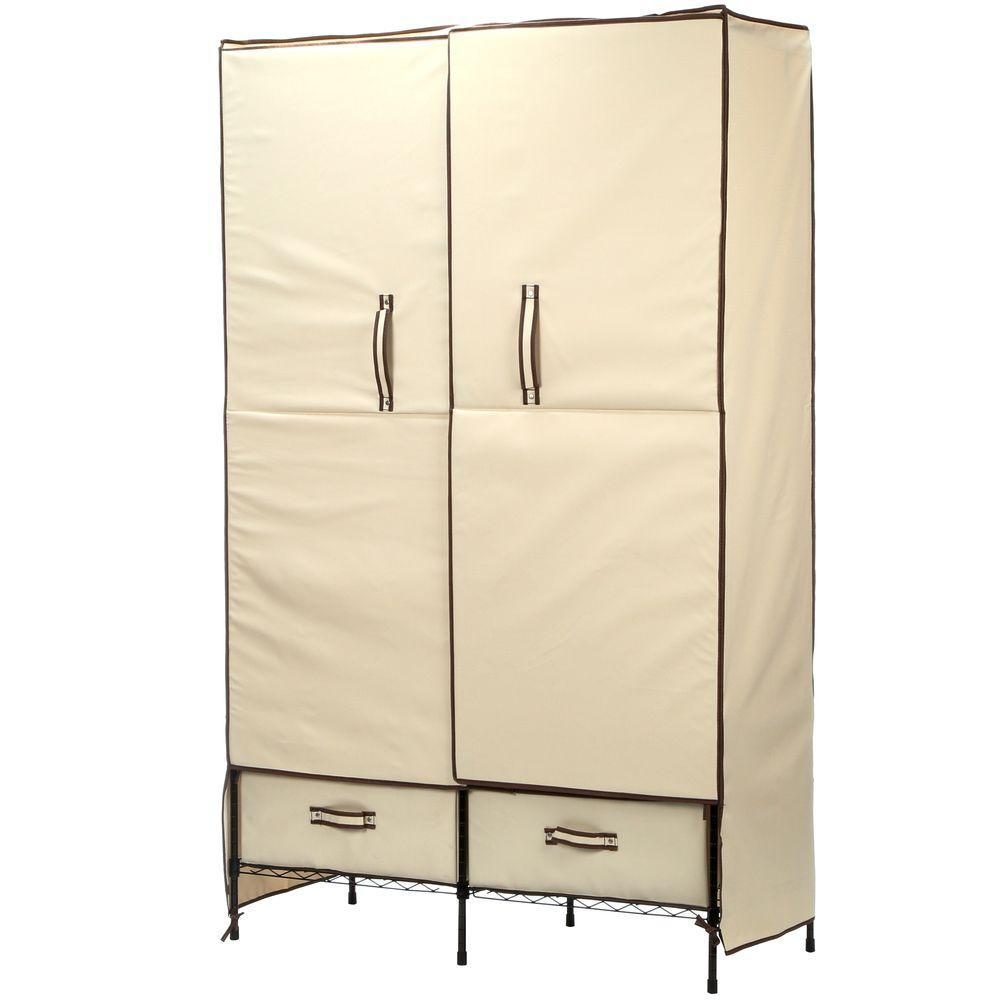 Storage Closet Honey Can Do Portable Wardrobe Storage Closet