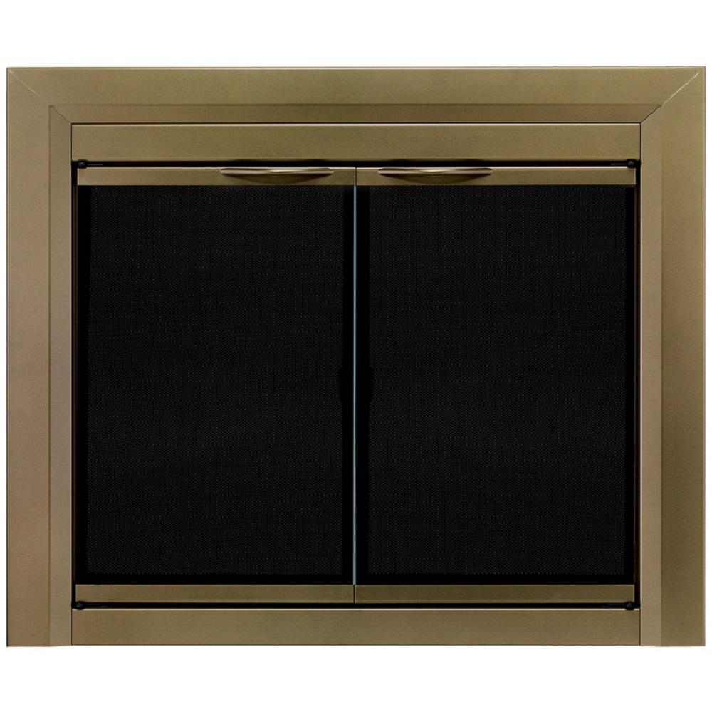 Glass Fireplace Doors Lowes Fireplace Doors Fireplaces The Home Depot