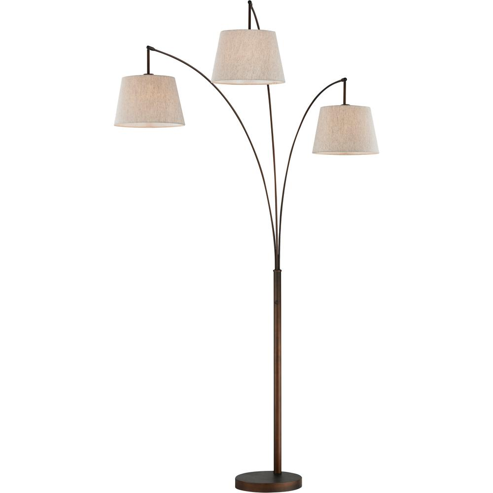 Artiva Luce 84 In Antique Bronze Led Arched Floor Lamp
