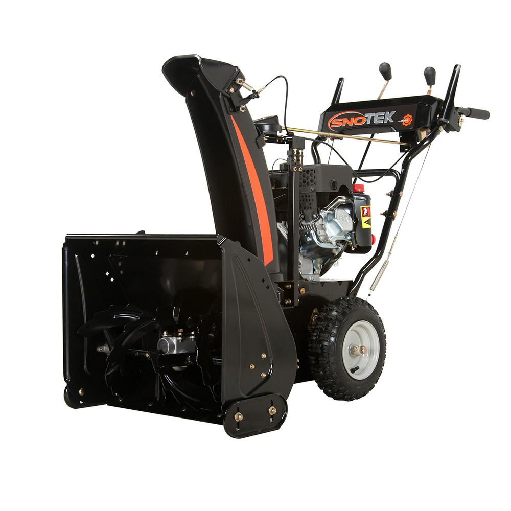 Used Snow Blowers Sno Tek 24 In 2 Stage Electric Start Gas Snow Blower
