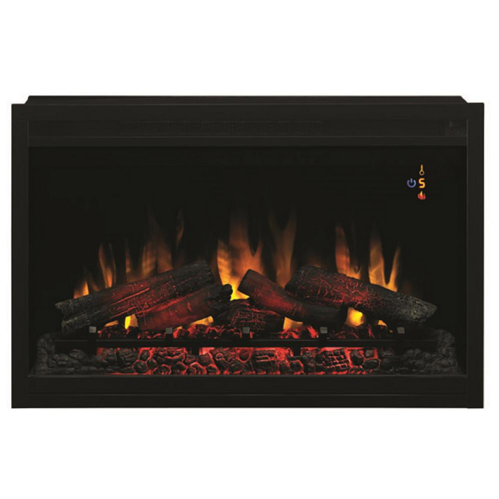 Plug In Electric Fireplaces Classic Flame 36 In Traditional Built In Electric Fireplace Insert