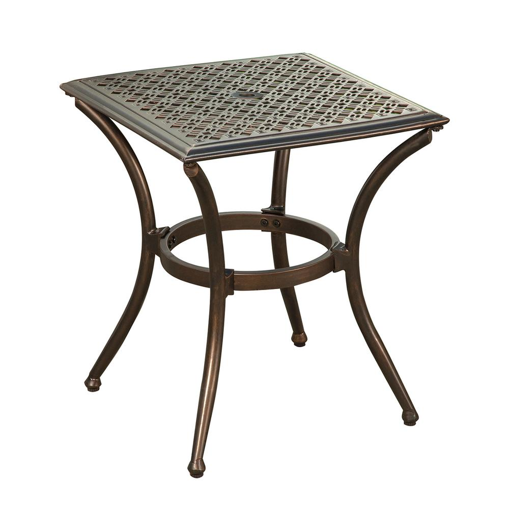Sofa Feet Glides Bali Bronze Metal Outdoor Side Table With Feet Glides