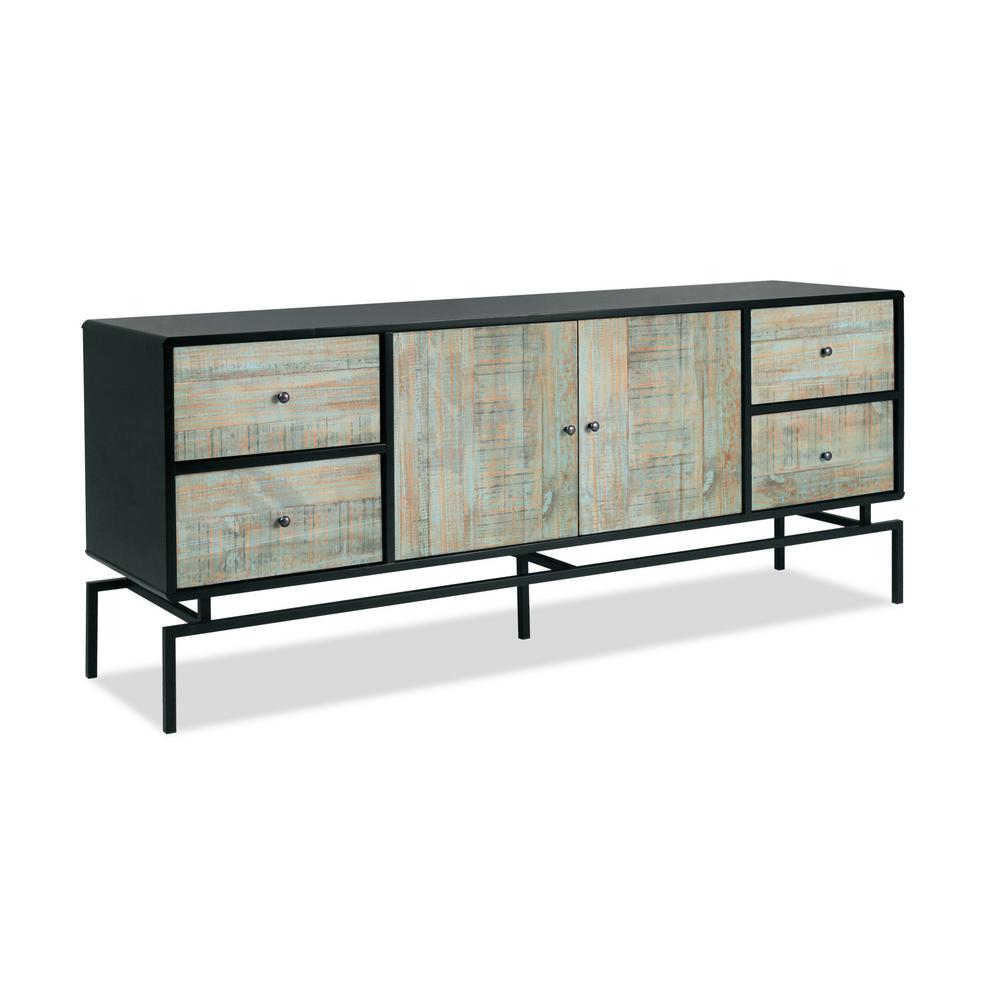 Buffet Sideboard Blue Artefama Furniture Pollo Old Blue Buffet