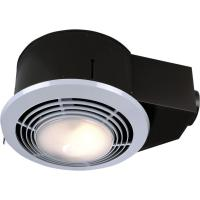 100 CFM Ceiling Bathroom Exhaust Fan with Light and Heater ...