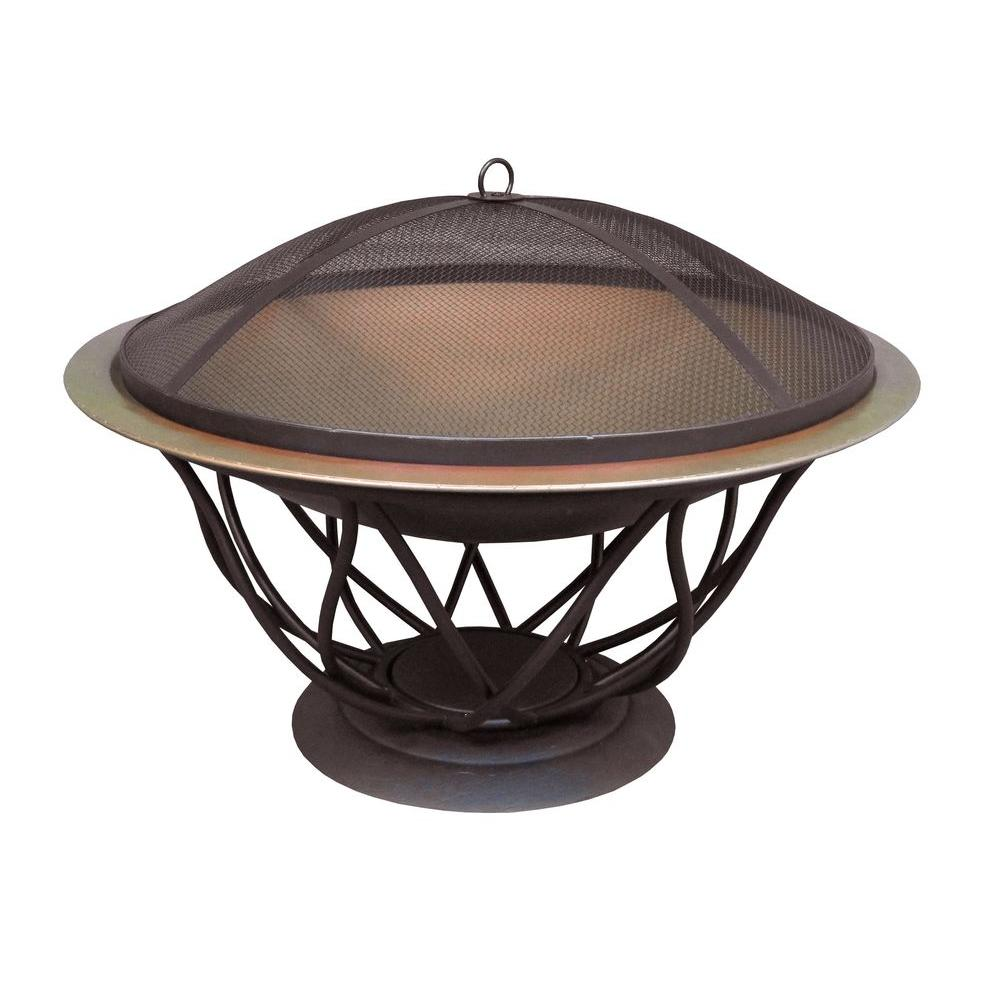 Home Depot Fire Pit Hampton Bay Maison 30 In Copper Finish Bowl Fire Pit