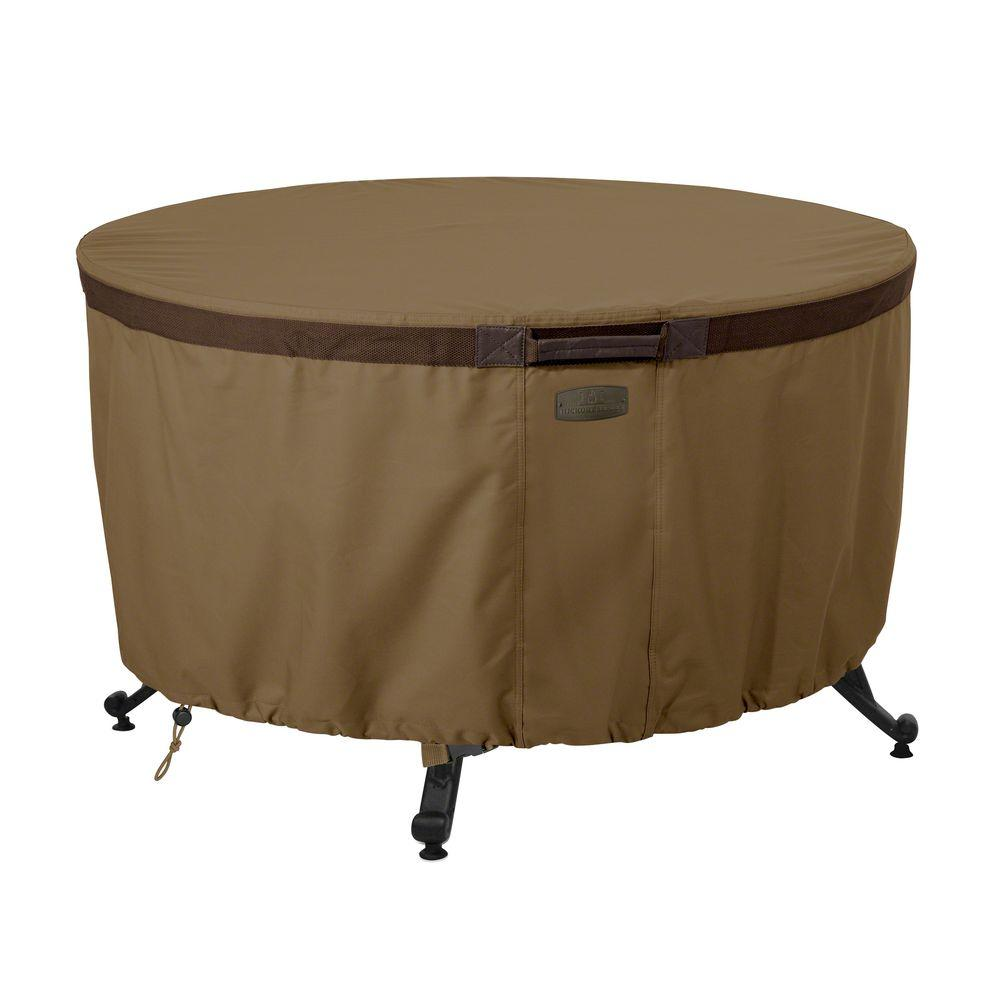 Classic Accessories Hickory 42 In Round Fire Pit Table