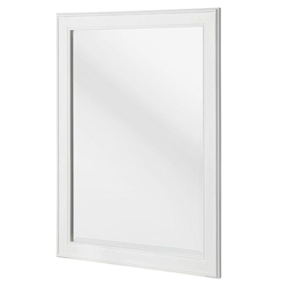 White Home Home Decorators Collection Gazette 24 In X 32 In Framed Wall Mirror In White