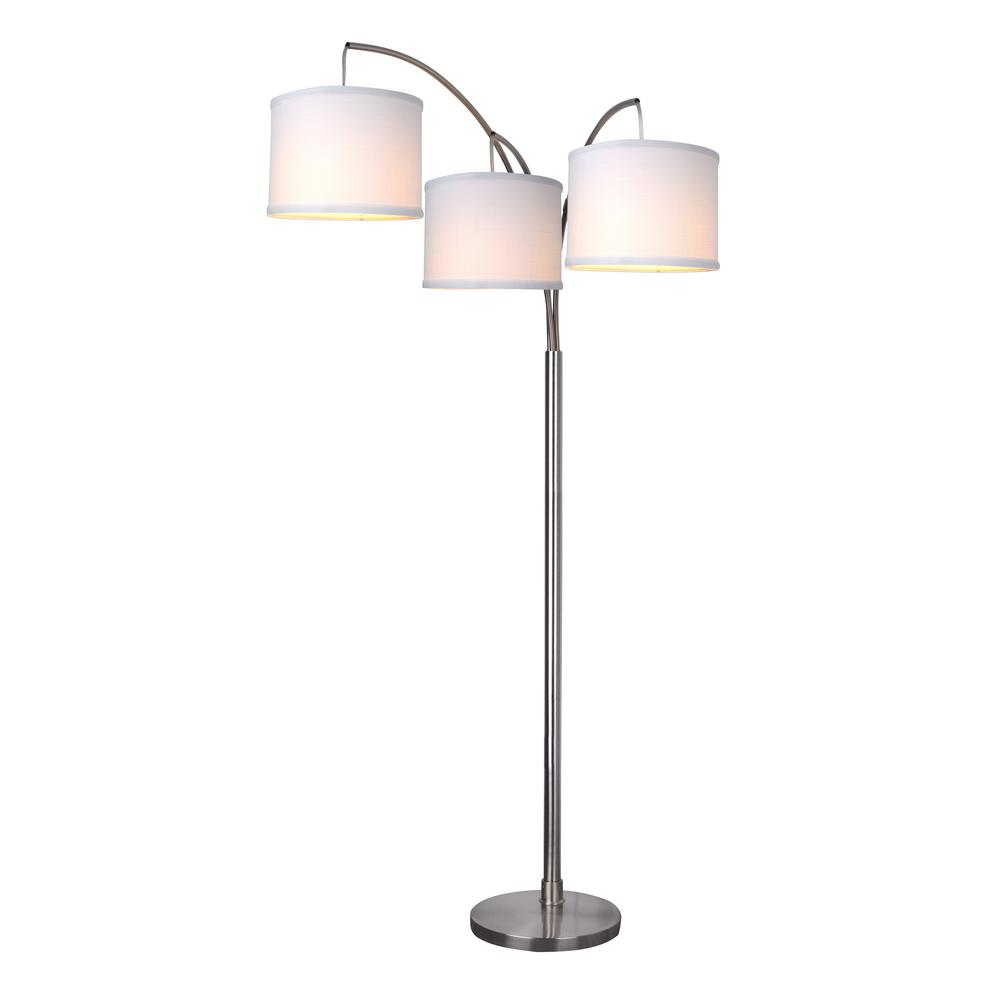 Small Arc Floor Lamp Hampton Bay 78 In Height 3 Arc Floor Lamp Brushed Nickel Finish