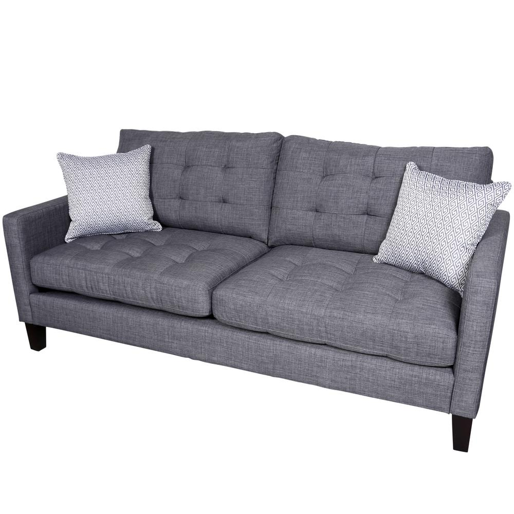Contemporary Couch Draper Gray Contemporary Sofa
