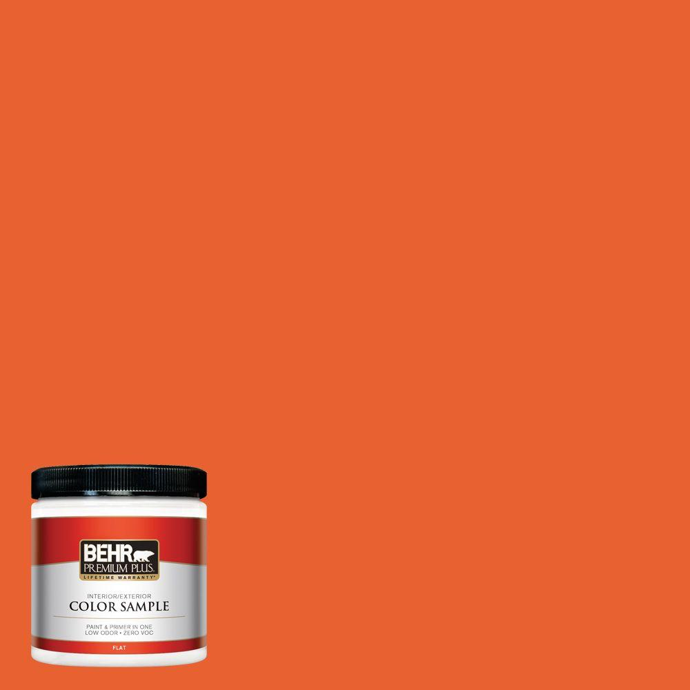 Orange Exterior Paint Behr Premium Plus 8 Oz S G 230 Startling Orange Flat Interior Exterior Paint And Primer In One Sample
