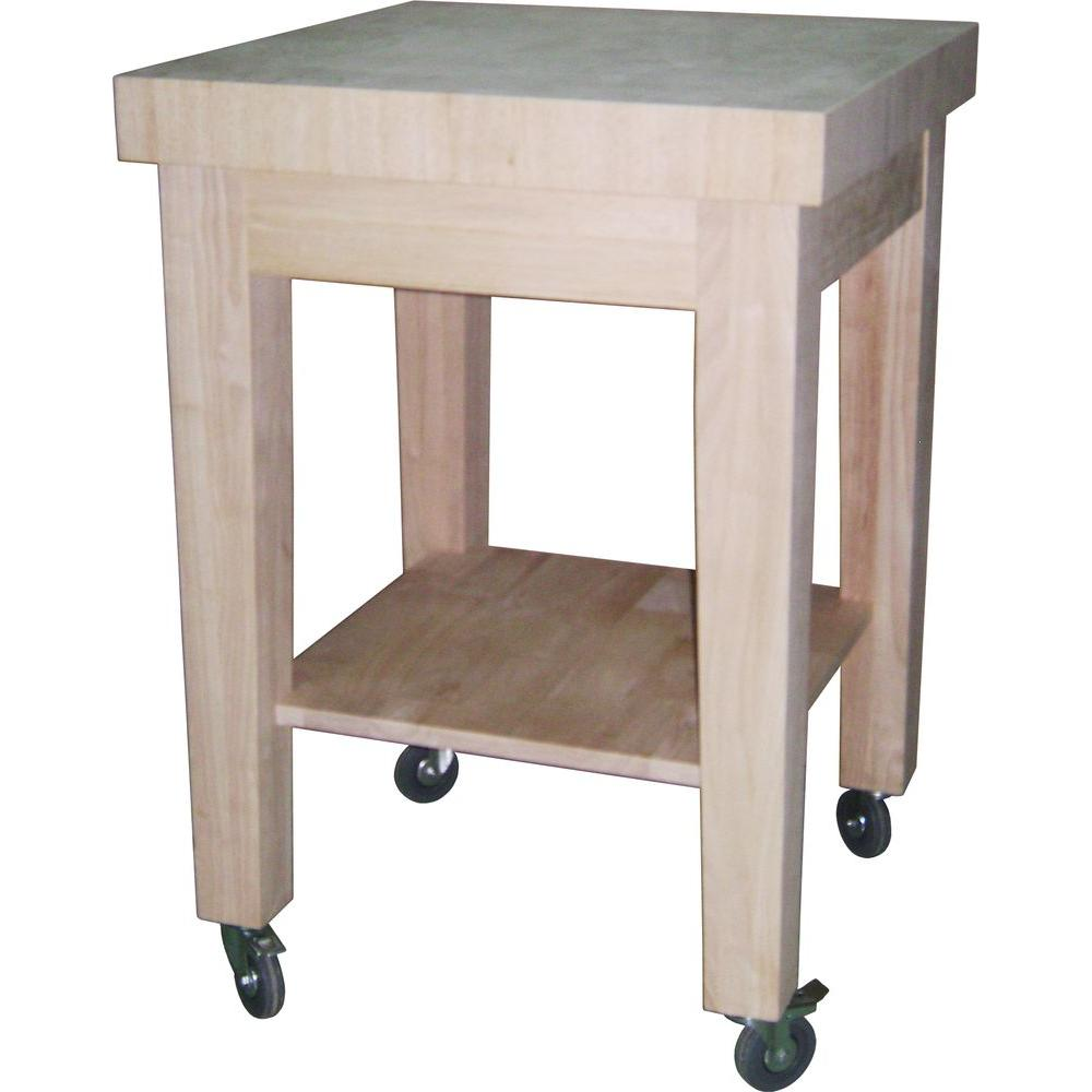 Chopping Block Kitchen Island International Concepts Unfinished Kitchen Cart With Butcher Block Top
