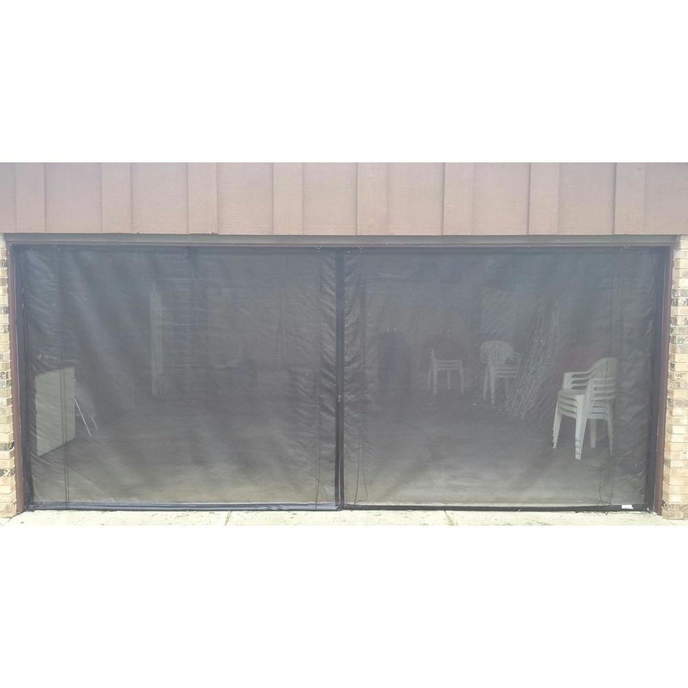 Garage Door Screen That Rolls Up Fresh Air Screens 16 Ft X 7 Ft 3 Zipper Garage Door Screen