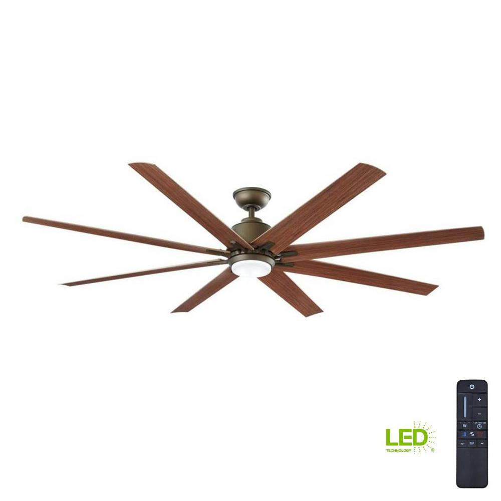 Large Indoor Fans Home Decorators Collection Kensgrove 72 In Led Indoor Outdoor Espresso Bronze Ceiling Fan With Remote Control
